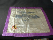 Old Vtg Military WW1 Silk Handkerchief Greetings From Camp Hancock Augusta GA.