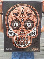 Superbe Sérigraphie -Ernesto Yerena-Yaqui Day Of The Dead Copper Silver- /300