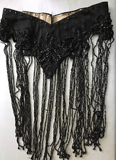 Victorian Beaded Fringed Belt Made From A Capelet Fringe As Is 33� W