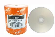 600 Titan Brand 52X Glossy Silver Inkjet HUB Printable CD-R CDR Disc 700MB