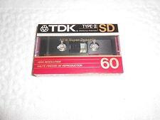 NEW TDK  SD 60 TYPE-II  CASSETTE TAPE ( CrO2 )