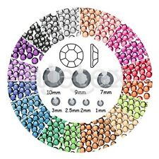 1000pcs SS4-SS46 Flat Back Strass Appartement Perles Ongles diy Nail Manucure
