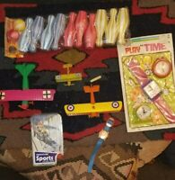Lot of Vintage Toy Planes, Games, and Watches