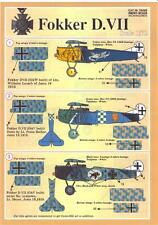 Print Scale Decals 1/72 FOKKER D-VII German WWI Fighter Part 2