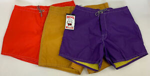 Lot of Three Birdwell Beach Britches Swim Trunks Board Shorts Men's Sz 34 Rare