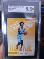 19-20 Panini Absolute Yellow Ja Morant Rookie , SGC 9.5 MINT +