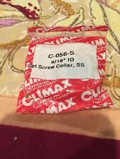 """NEW Climax C-056-s 9/16"""" Id Set Screw Collar Stainless Steel"""