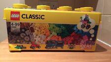 Lego Classic Medium Brick Box 10696 - Brand New - Base Plate 35 Colours Wheels