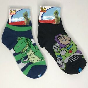 Toy Story Socks Buzz Lightyear & Rex Youth Sock Size 6-8