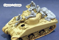 Resin 1/35 WWII Sherman Tank Crew + Stowage Unpainted unassembled 3839