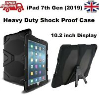 "For iPad 7th Gen 2019 10.2"" Military Builder Heavy Duty Shock Proof Stand Case"