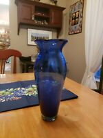 Made In Spain Faux Hand-blown Glass Vase Round 14x14x14 Eco Recycled Glass