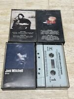 Lot Of 4 JONI MITCHELL Cassette Tapes Rare Ladies Of Canyon Blue Shadows Hejira