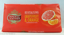 9 Bars Of Cussons Imperial Leather 100g Revitalising Grapefruit  Orange Soap Bar