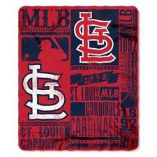 More details for st louis cardinals baseball established 1892 fleece throw blanket