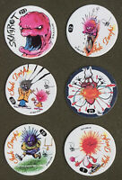 Ink Drops POGS -pog lot of 6 - retro 90s game