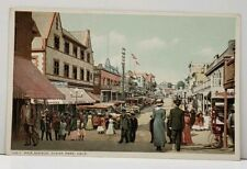 Ocean Park California Pier Avenue Vintage Postcard G9