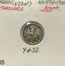 THAILANDE - FUANG 1876-1900 - Pièce de Monnaie en Argent // TB