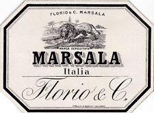 ETICHETTA VINO MARSALA ITALIA FLORIO & C  2-16