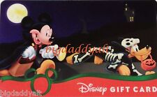 New Disney Mickey Halloween Costume Vampire Collectible Gift Card No Cash Value