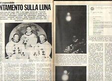 MA133 Clipping-Ritaglio  1975 Sbarco sulla luna luglio 1969 incontro Ufo