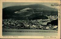 Braunlage im Oberharz alte Postkarte 1925 gelaufen Totale mit Wurmberg im Winter