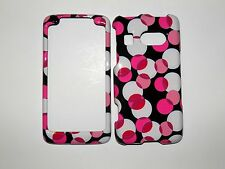 HTC SURROUND AT&T CIRCLES AND DOTS ON A BLACK GROUND GLOSSY CASE/COVER  NEW