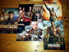 """SPARTACUS SET OF 5 PP SIGNED 12""""X8"""" POSTER ANDY WHITFIELD LIAM MCINTYRE"""
