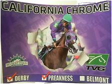 CALIFORNIA CHROME KENTUCKY DERBY WINNER HORSERACING 2014 COLLECTIBLE POSTER