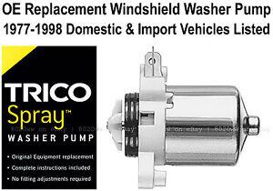 Windshield / Wiper Washer Fluid Pump - Trico Spray 11-606