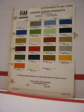 1975 Chevrolet GMC Truck Pickup Paint Chips Color Chart R-M 75