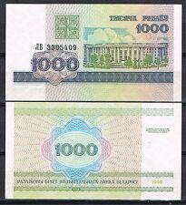 BIELORRUSIA - BILLETE 1000 RUBLOS  AÑO 1998  Pick # 16   SC  UNC