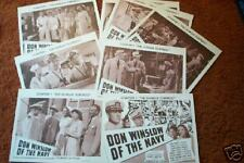 DON WINSLOW of the Navy  set 8 diff LOBBY CARDS  serial