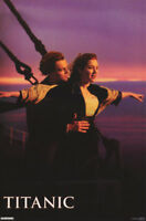 POSTER :MOVIE REPRO:  TITANIC - FLYING  - LEO & KATE - FREE SHIPPING #1718 RC7 H