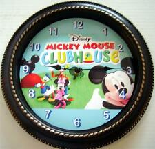 "CUSTOM MADE MICKEY MOUSE CLUBHOUSE 12"" WALL CLOCK - NEW IN BOX"