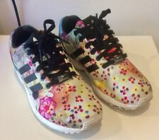 Ladies Addidas Torsion ZX Flux Size 6 Floral Trainers Lace Up Used