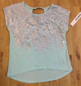 DKNY Girls'  Blue Light T-Shirt, Size M