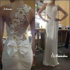 White/Ivory Mermaid Bridal Gown Wedding Dress Custom Size 2 4 6 8 10 12 14 16