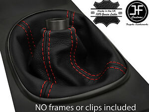 RED  STITCH MANUAL REAL LEATHER SHIFT BOOT FITS ACURA RSX TYPE S TYPE R 02-06