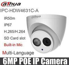 Dahua IPC-HDW4631C-A 6MP IP Camera POE IR30 Built-in MIC IP67 hdw4433c-a 2.8MM