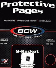 15  9 Pocket Pages Binder Sheets for Trading Cards Plus 100 Penny Sleeves