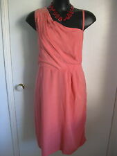 SIZE 18 SMART FLATTERING ORANGE SEQUINNED OCCASION WEAR SUMMER DRESS