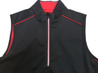 Greg Norman  Womens Small S/P  Golf Vest Small  Black Red Trim