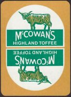 Playing Cards Single Card Old Vintage Wide McCOWAN'S HIGHLAND TOFFEE Advertising