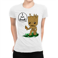 Baby Groot T-Shirt, Guardians of the Galaxy Marvel Tee, Women's All Sizes