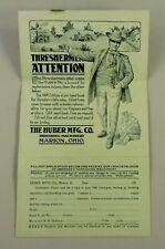 Farming - Huber Mfg. Co. Threshing Machinery - Marion, OH - Ohio