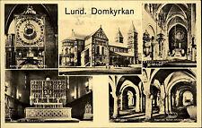 Lund Schweden alte Mehrbildkarte ~1940 Domkyrkan diverse Ansichten der Domkirche