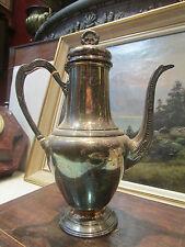 ancienne cafetiere en metal argenté poinconné phenix epoque 1900 style louis XVI