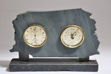New listing Vintage British Made Rototherm Barometer -Thermometer- Grey Stone Stand