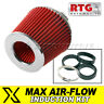 Induction Kit Performance Air Filter – Cone, Red + Chrome Fits BMW